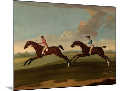 Aaron and Driver Running the Second Heat at Maidenhead, 1754-Richard Roper-Mounted Giclee Print