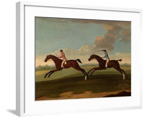 Aaron and Driver Running the Second Heat at Maidenhead, 1754-Richard Roper-Framed Art Print