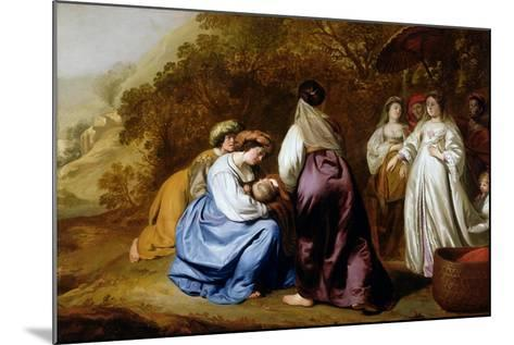 The Finding of Moses-Abraham Lamberts Jacobsz van den Tempel-Mounted Giclee Print