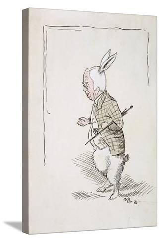 William Archibald Spooner (1844-1930) as the White Rabbit-John Tenniel-Stretched Canvas Print