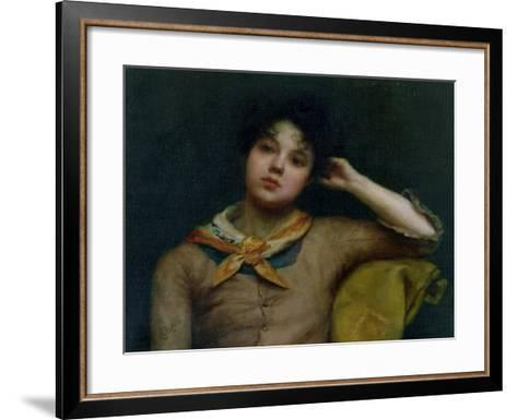 Study of a Young Woman-Harriet E. Ryder-Framed Art Print