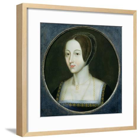 Portrait of Anne Boleyn (C.1507-36), C.1600--Framed Art Print