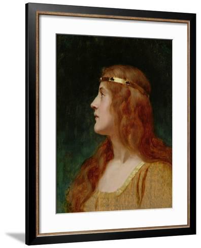 A Medieval Beauty-Edmund Blair Leighton-Framed Art Print