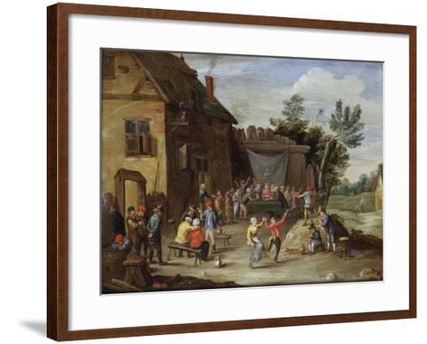 A Wedding Feast in the Courtyard of a Village Inn-Jan van Kessel the Elder-Framed Art Print