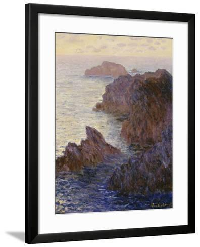 Point De Rochers, Port-Goulphar-Claude Monet-Framed Art Print