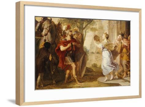 Jepthah Greeted by His Daughter-Erasmus Quellinus-Framed Art Print