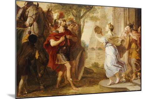 Jepthah Greeted by His Daughter-Erasmus Quellinus-Mounted Giclee Print