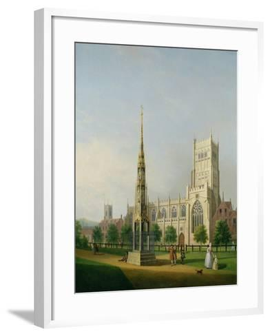 A View of Bristol High Cross and Cathedral, C.1750-Samuel Scott-Framed Art Print