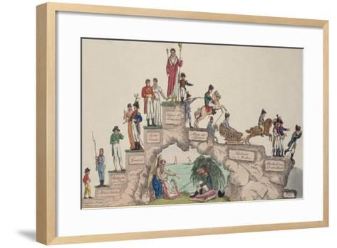 The Rise and Fall of Napoleon Bonaparte, 1814--Framed Art Print