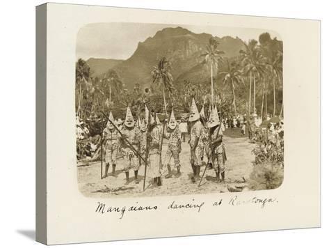 Mangaians Dancing at Rarotonga, C. 19th Century--Stretched Canvas Print