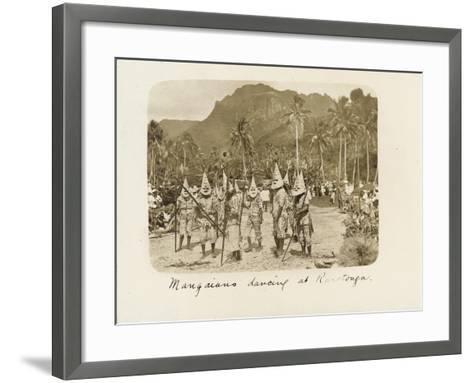 Mangaians Dancing at Rarotonga, C. 19th Century--Framed Art Print