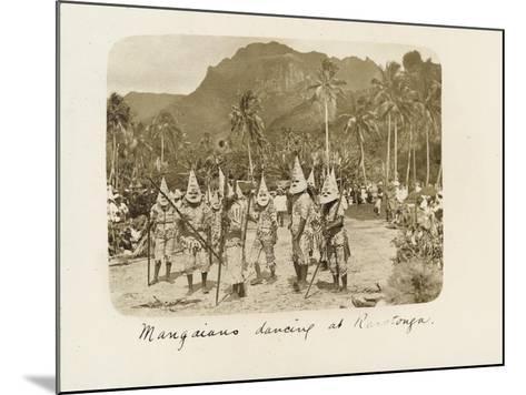 Mangaians Dancing at Rarotonga, C. 19th Century--Mounted Giclee Print