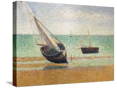Low Tide at Grandcamp, 1885-Georges Seurat-Stretched Canvas Print