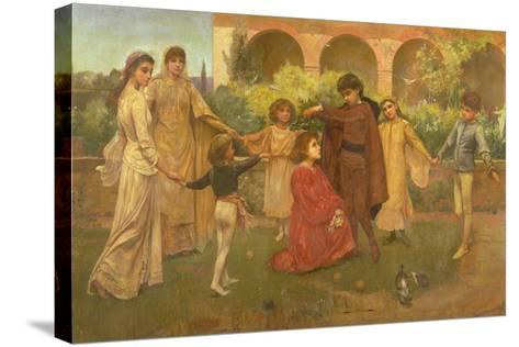 The Childhood of Dante-Jessie Macgregor-Stretched Canvas Print