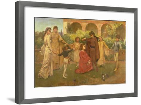 The Childhood of Dante-Jessie Macgregor-Framed Art Print