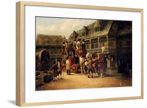 Boarding the Coach to London, 1879-J.C. Maggs-Framed Art Print