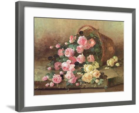 Roses in a Basket-Jan van Steensel-Framed Art Print