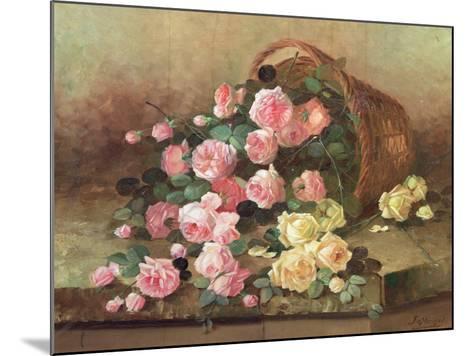 Roses in a Basket-Jan van Steensel-Mounted Giclee Print