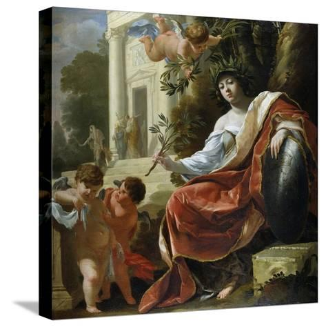 An Allegory of Peace-Simon Vouet-Stretched Canvas Print