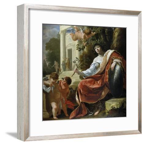 An Allegory of Peace-Simon Vouet-Framed Art Print