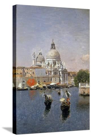 Santa Maria Della Salute, Venice-Martin Rico y Ortega-Stretched Canvas Print