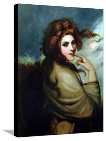 Portrait of Emma Hamilton (C.1765-1815)-George Romney-Stretched Canvas Print