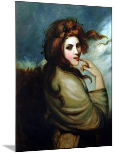Portrait of Emma Hamilton (C.1765-1815)-George Romney-Mounted Giclee Print