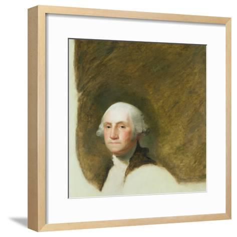 Portrait of George Washington-Jane Stuart-Framed Art Print