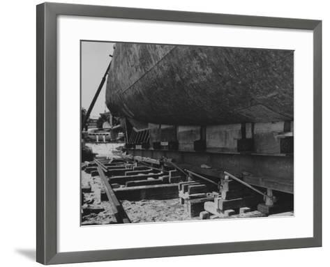 A View Looking Toward Lake Shore Drive of the Jacks Used for Jacking Up the Captured German Submari--Framed Art Print