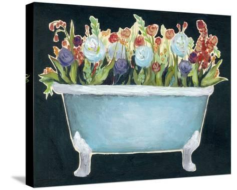 2-Up Bathtub Garden I-Grace Popp-Stretched Canvas Print