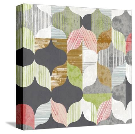 Arabesque Shapes I-Jennifer Goldberger-Stretched Canvas Print