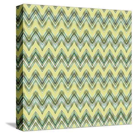 Chevron Waves III-Katia Hoffman-Stretched Canvas Print