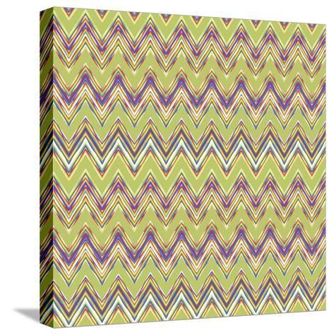Chevron Waves V-Katia Hoffman-Stretched Canvas Print