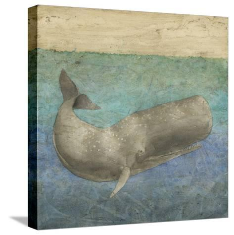 Diving Whale II-Megan Meagher-Stretched Canvas Print