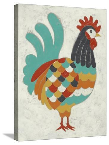 Country Chickens I-Chariklia Zarris-Stretched Canvas Print