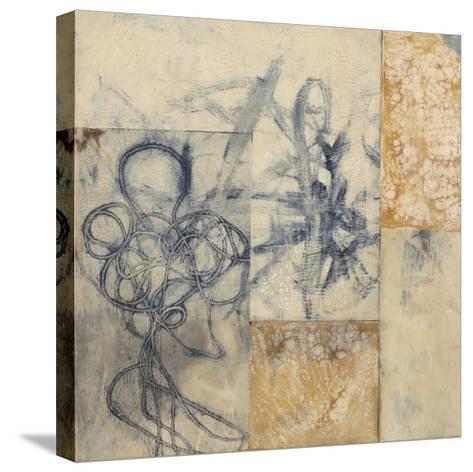 Indigo Strings I-Jennifer Goldberger-Stretched Canvas Print