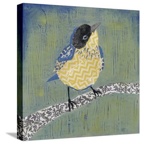 Patchwork Wren II-Grace Popp-Stretched Canvas Print