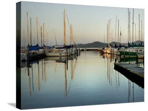 Marina Sundown II-Danny Head-Stretched Canvas Print