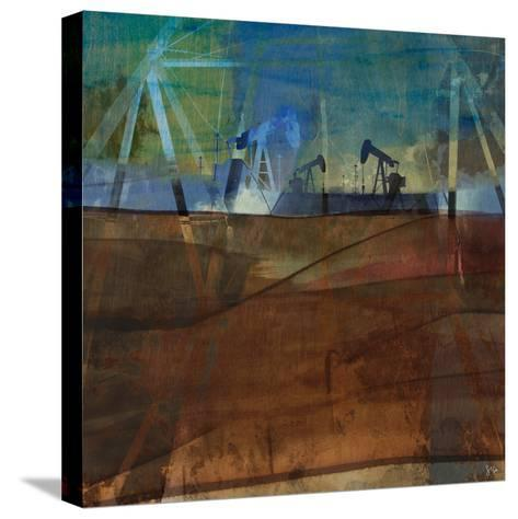 Oil Rig Abstraction II-Sisa Jasper-Stretched Canvas Print