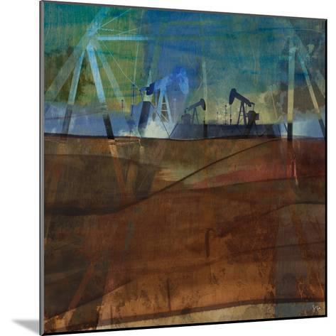 Oil Rig Abstraction II-Sisa Jasper-Mounted Art Print