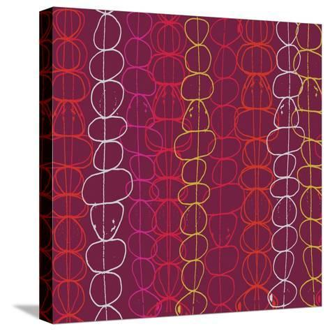 Red Fall III-Ali Benyon-Stretched Canvas Print