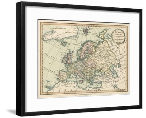 Historic Map of Europe-Laurie & White-Framed Art Print