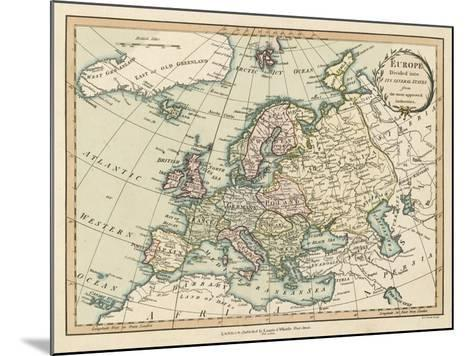 Historic Map of Europe-Laurie & White-Mounted Art Print