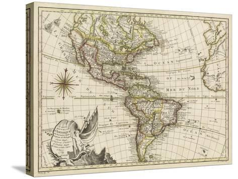 A New Map of America, 1769-Vallet-Stretched Canvas Print