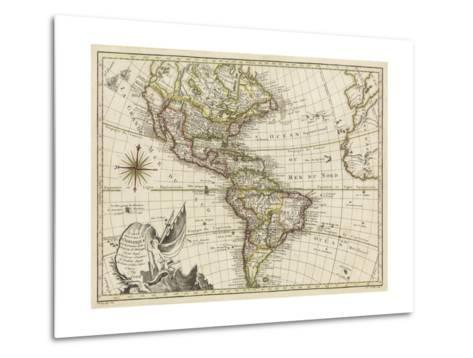 A New Map of America, 1769-Vallet-Metal Print