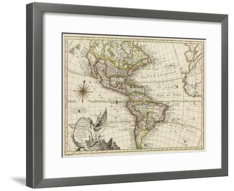 A New Map of America, 1769-Vallet-Framed Art Print