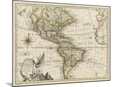 A New Map of America, 1769-Vallet-Mounted Art Print