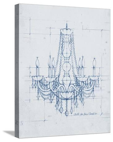 Chandelier Draft IV-Ethan Harper-Stretched Canvas Print