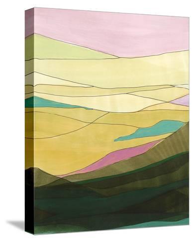 Pink Hills I-Jodi Fuchs-Stretched Canvas Print