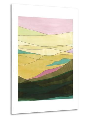 Pink Hills I-Jodi Fuchs-Metal Print
